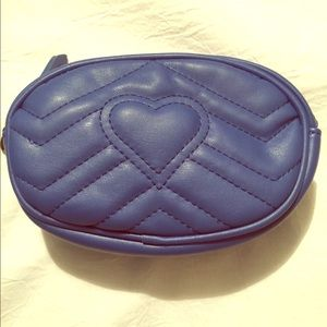 Blue Heart Purse